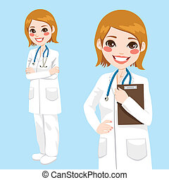Confident Woman Doctor - Beautiful friendly and confident...