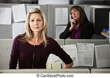 Confident Woman Employee