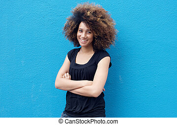 Confident young african woman