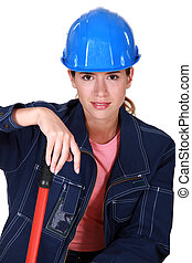 Confident young builder