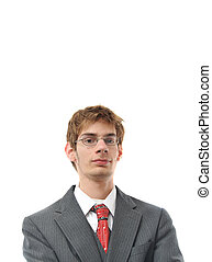 Confident Young Businessman Smiling
