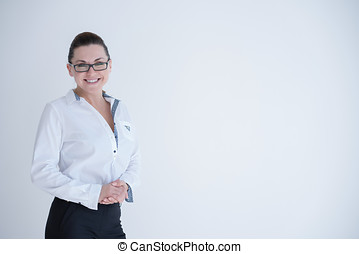 Confident young businesswoman in suit