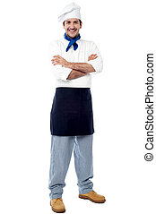 Confident young male chef