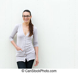Confident young woman smiling