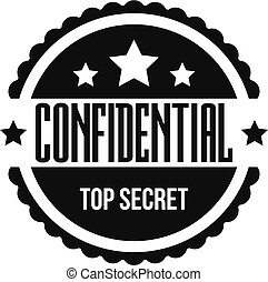 Confidental logo, simple style.