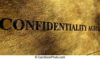 Confidential agreement grunge concept