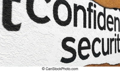 Confidential and security grunge concept
