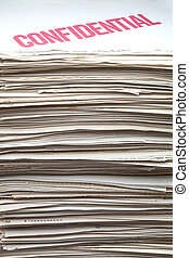 confidential documents - heap of confidential documents of...