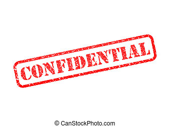CONFIDENTIAL - 'CONFIDENTIAL' Red Stamp over a white...