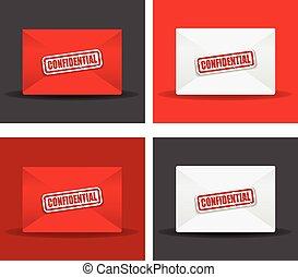 confidential envelope set