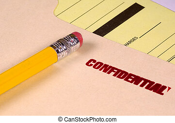 Confidential File and a Pencil
