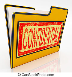 Confidential File Shows Secret Documents Or Papers