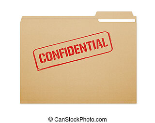 Confidential Folder - Confidential brown folder file with...