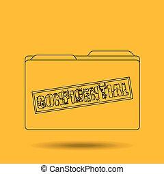 confidential folder design