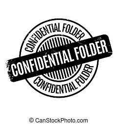 Confidential Folder rubber stamp