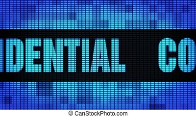 Confidential Front Text Scrolling LED Wall Pannel Display Sign Board