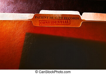 Confidential health records folders