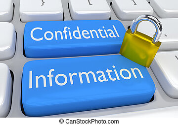 Confidential Information concept - 3D illustration of...