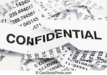 Confidential papers just shredded for security protection