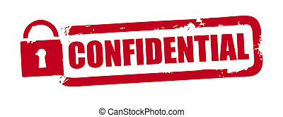 confidential - red rubber stamp