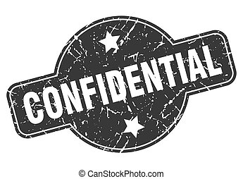 confidential round grunge isolated stamp