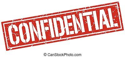 confidential square grunge stamp