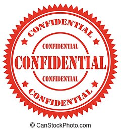Confidential-stamp - Grunge rubber stamp with text...