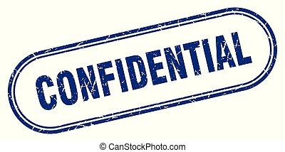 confidential stamp. confidential square grunge sign. ...