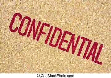 "Confidential Stamp - ""Confidential"" stamp on manila paper...."