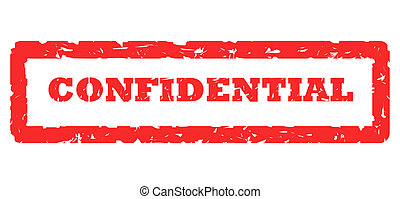 Confidential Stamp - Red confidential stamp, isolated on...
