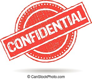 Confidential Stamp Grunge Logo