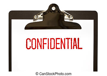 Confidential Stamp on Clipboard