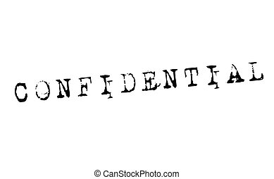 confidential stamp on white