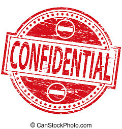 Confidential Stamp - Rubber stamp illustration showing...
