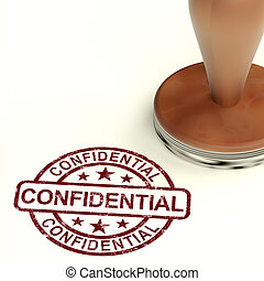 Confidential Stamp Showing Private Correspondence Or...