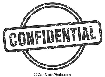 confidential vintage stamp. confidential sign