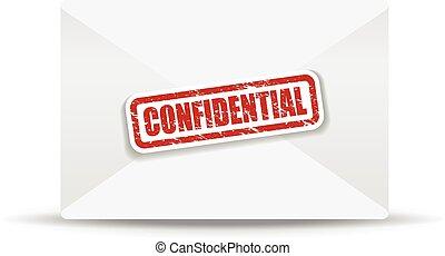 confidential white closed envelope