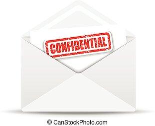 confidential white envelope