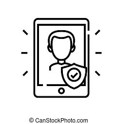 Confidentiality line icon, concept sign, outline vector illustration, linear symbol.