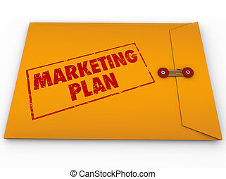 confidentiel, plan marketing, enveloppe, top secret,...