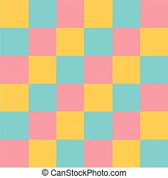 configuración de pastel, resumen, multicoloured, vector, plano de fondo, cuadrados