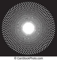 configuración el diseño, espiral, zigzag