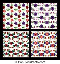 configuración natural, colección, decortive, floral, flores