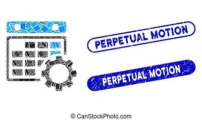 configuration, gratté, timbres, mosaïque, mouvement...