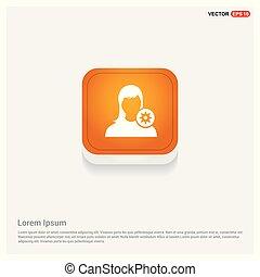 Configuration user icon Orange Abstract Web Button