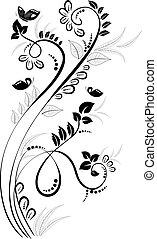 confine floreale, disegno, romantico, tuo