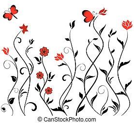 confine floreale, seamless