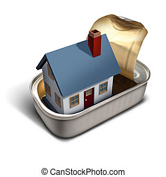 Confined Home - Confined home real estate moving time...