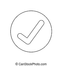 confira mark, ícone, ilustração, desenho