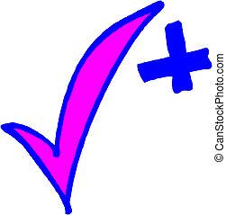 confira mark, -, vetorial, ilustração